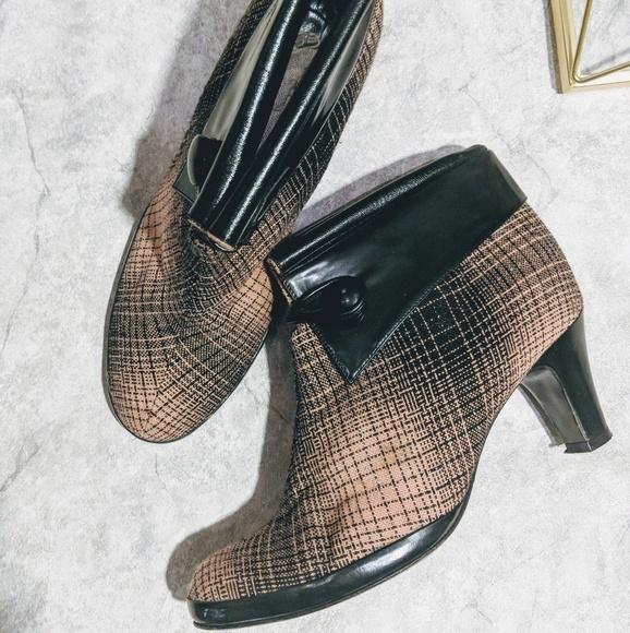 2db6b00651 Marc Jacobs Shoes | Pink Black Tweed Kitten Heel Bootie | Poshmark